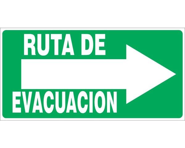 Ruta de Evacuacion 40x20cm Deo - Soluciones